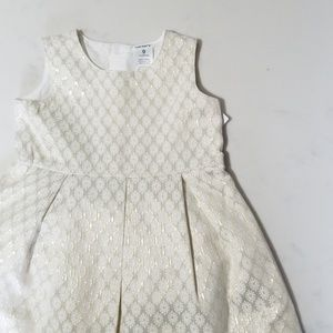 Carter's gold and ivory dress